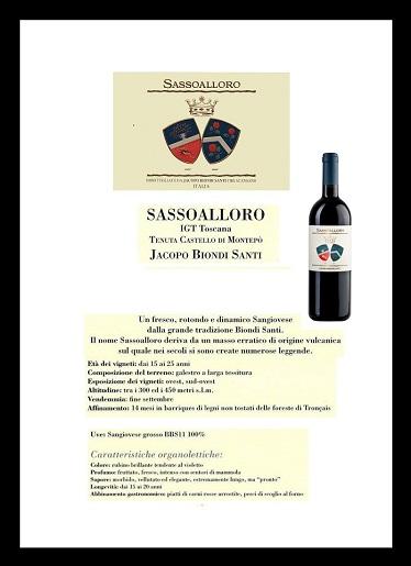 Sassoalloro 2010 Biondi Santi