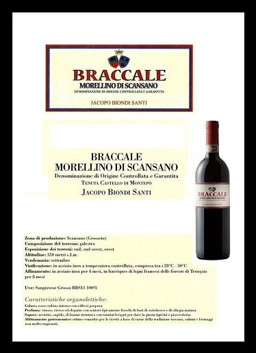 Braccale Morellino Biondi Santi